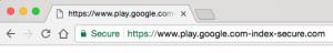 Chrome 'secure' URL status