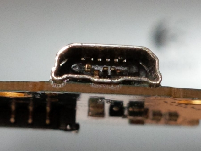Damaged Micro USB Charging Port