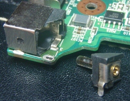 Broken Laptop Power Socket